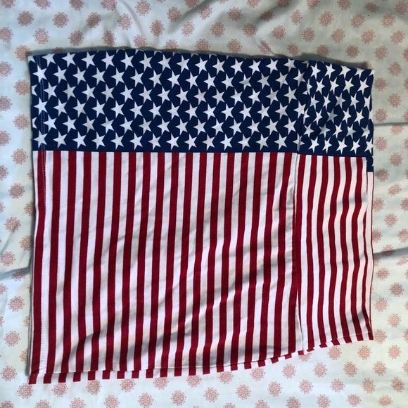 Charlotte Russe Dresses & Skirts - American flag mini skirt